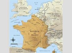 Map of the Republic of France in 1914 NZHistory, New