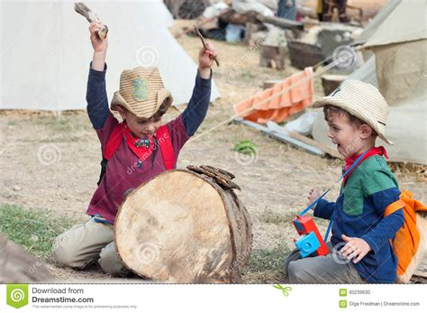 cowboy drummer stock photo image