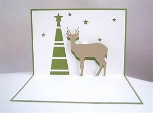 Pop Up Weihnachtskarten : pop up weihnachtskarte rentier tannenbaum kleodesigns ~ Frokenaadalensverden.com Haus und Dekorationen