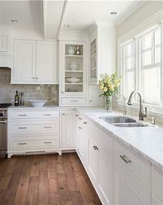 12 of the hottest kitchen trends awful or wonderful With kitchen colors with white cabinets with cherry blossom wall art set 3