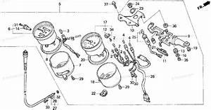 Honda Motorcycle 1999 Oem Parts Diagram For Speedometer