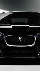 Black cars purple vehicles jaguar xf front view wallpaper