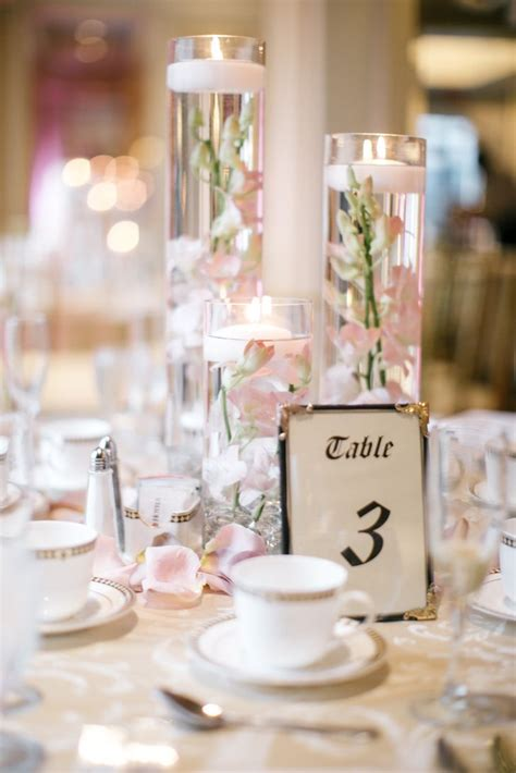 pin   knot  reception details candle wedding