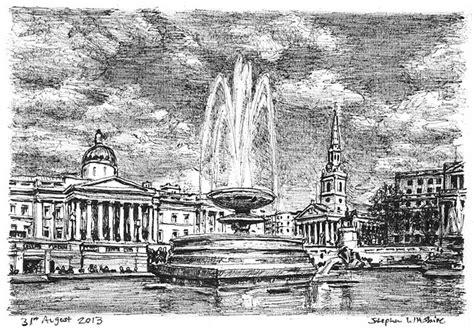 trafalgar square drawings prints  limited editions