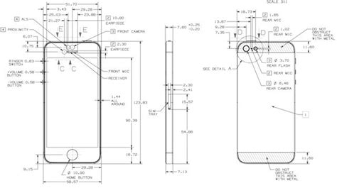 iphone 5s dimensions inches these are the complete blueprints for the iphone 5 image