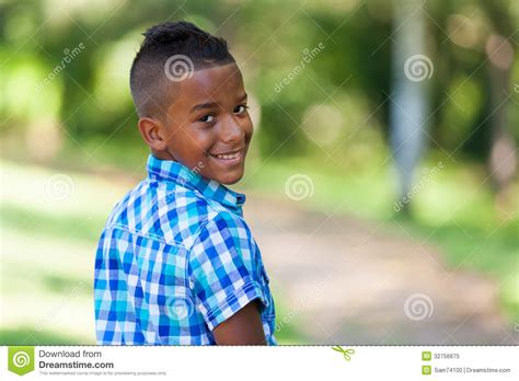 Outdoor Portrait Of A Cute Teenage Black Boy African People Royalty Free Stock Photo Image