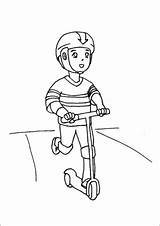 Scooter Boy Riding Coloring Razor Toys Printable Additions Newest Freeprintablecoloringpages sketch template