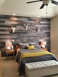 30 wood accent walls to make every space cozier digsdigs With what kind of paint to use on kitchen cabinets for wall art above headboard