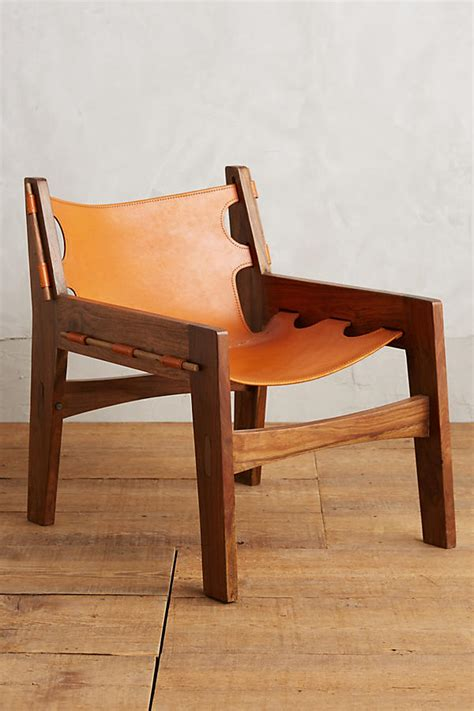leather sling chair anthropologie