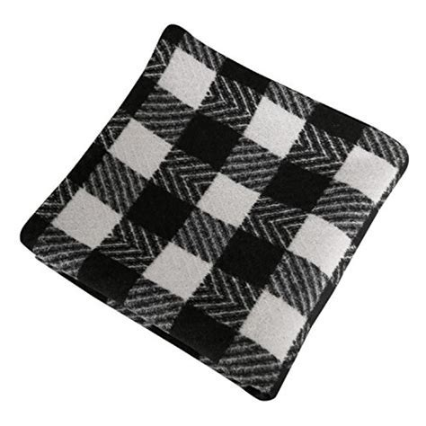 Deconovo Black and White Retro Checkered Plaid Throw