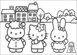 coloring pages of hello kitty and friends collections