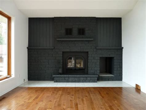 Fireplace Paint - how to easily paint a fireplace charcoal grey