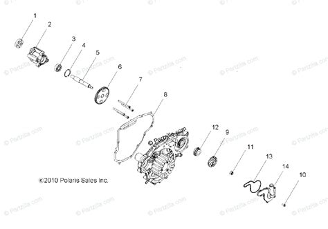 polaris side by side 2011 oem parts diagram for engine pump water pump all options
