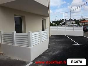 Brise Vue Pvc Blanc : brise vue terrasse en pvc en kit sur mesure sur muret ~ Dailycaller-alerts.com Idées de Décoration