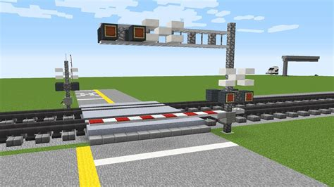 Minecraft Cantilever Signal Railroad Crossing Tutorial