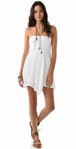 Nightcap Mini Victorian Strapless Dress in White | Lyst