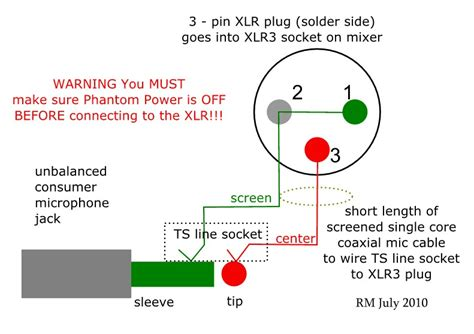 3 Wire Microphone Wiring Diagram how to wire an unbalanced microphone to a balanced xlr
