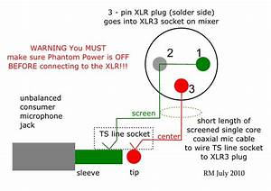 How To Wire An Unbalanced Microphone To A Balanced Xlr Input