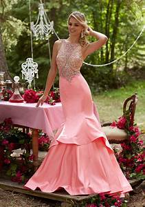 Beaded Sateen Prom Dress With An Intricately Beaded