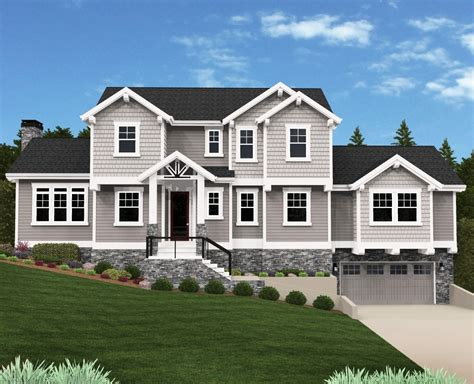 eagle point sloping country house plan  mark stewart