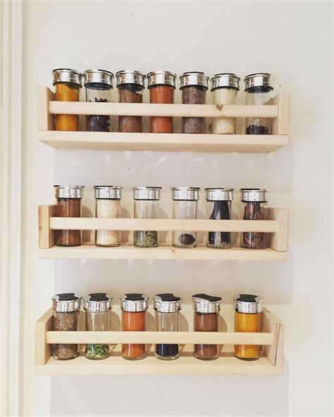 In Wall Spice Rack by 27 Spice Rack Ideas For Small Kitchen And Pantry In 2019