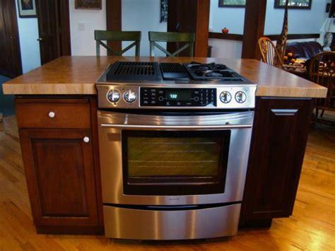 kitchen island with stove kitchen range islands countertops butcher block 5229
