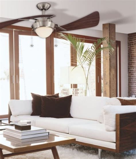 modern ceiling fans  contemporary living space  decor