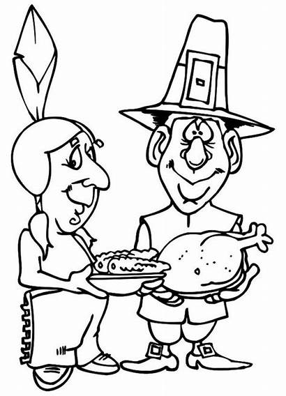 Coloring Thanksgiving Sharing Celebration Canada Pages