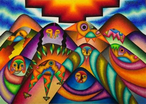 color earth andes the work of bolivian artist roberto mamani mamani indiancountrytoday