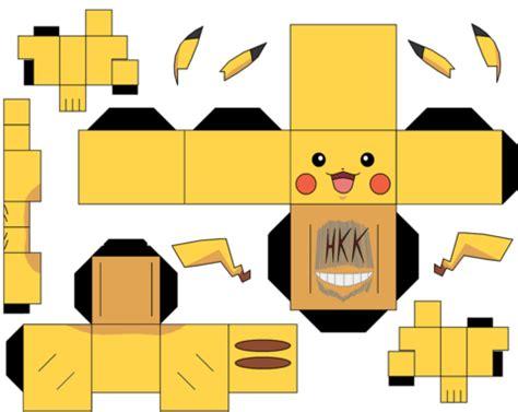 pikachu paper free printable papercraft templates