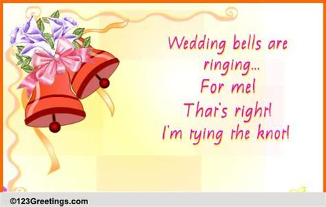 wedding bells  ringing  announcement ecards greeting cards