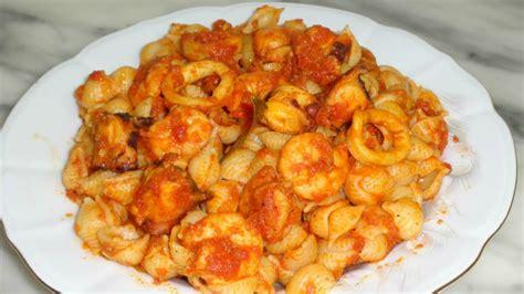 cuisiner des fruits de mer recettes de pâtes aux fruits de mer مقرونة بغلال البحر