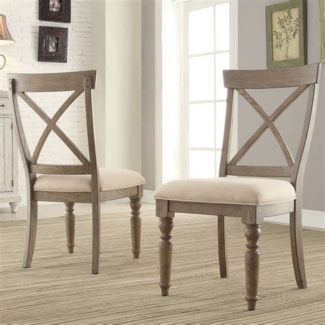 aberdeen wood x back upholstered side chair in weathered