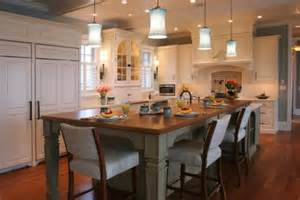 islands kitchen designs 30 kitchen islands with tables a simple but clever combo