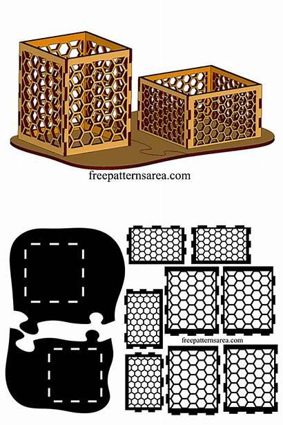 Laser Pen Holder Freepatternsarea Cutter Paper Cube