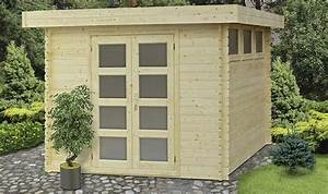 Abri de jardin en bois embot 7,5m2 avec plancher Moderna
