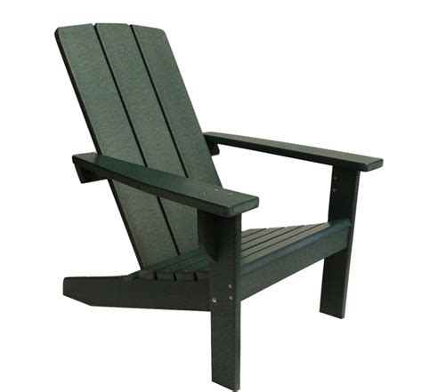 modern poly adirondack chair green contemporary