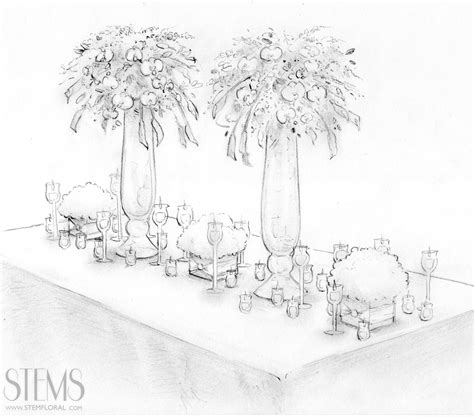 lovely sketches by STEMFloral (With images) Wedding