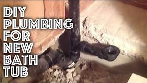 Bathtub Plumbing - New Installation