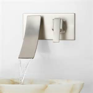reston wall mount waterfall bathroom faucet wall mount