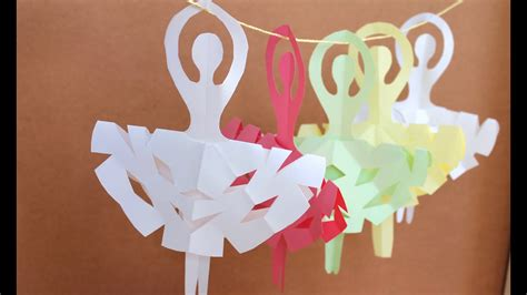 easy paper craft    snowflake ballerinas youtube