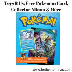 toys r us free pokemon card collector album