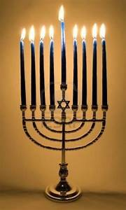 This is a Menorah that is used by Jewish on the holiday of ...