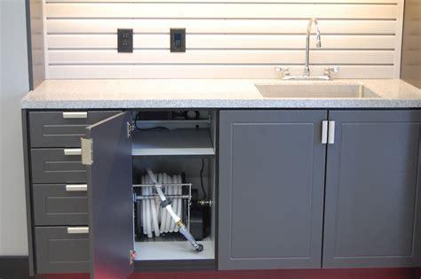Sink In Garage by Garage Sink Cabinet With Hose Reel Garages By