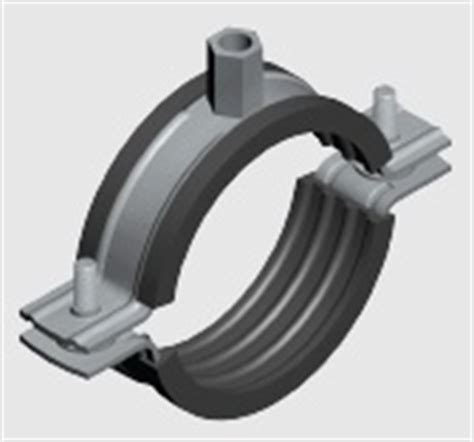 E8l Double Fix Rubber Lined Insulated Pipe Clamp Ezystrut