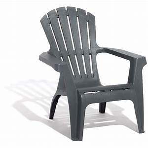 Fauteuil Relax Jardin : fauteuil de jardin plastique gris anthracite table ~ Nature-et-papiers.com Idées de Décoration