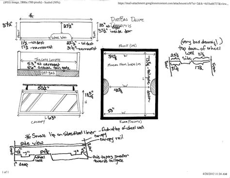truck bed measurements pacific wonderland woodworks