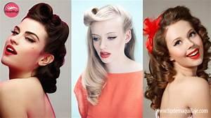 Coiffure Année 50 Pin Up : tutorial de peinados pin up tips de maquillaje ~ Melissatoandfro.com Idées de Décoration