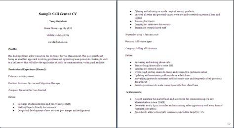 Customer Service Curriculum Vitae Exles by Simple Cv Sles New Calendar Template Site
