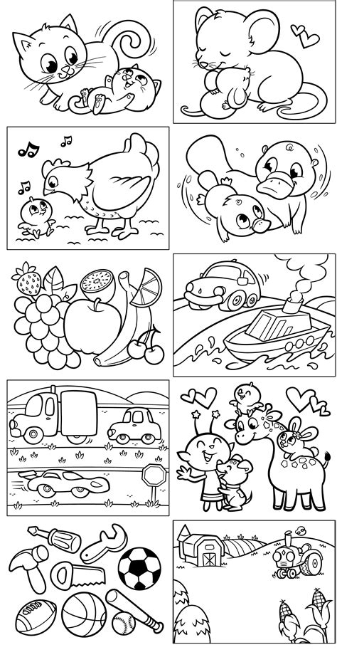 opposites coloring pages   print